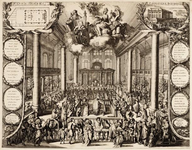 Inauguración de la sinagoga portuguesa en 1675, Romeyn de Hooghe.